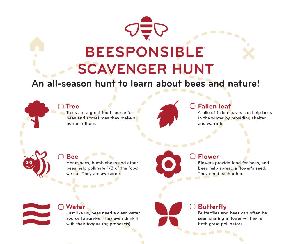 Beesponsible Scavenger Hunt
